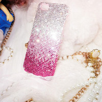 Handmade Bling sparkle diamond crystal Rhinestone iPhone 6 6 plus iPhone 5 5s 5c case pink shade samsung galaxy s5 note 2 note 3 case htc
