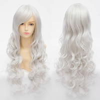 Cosplay Angel Sanctuary Raziel Silve White Long Curly Wig SP141210