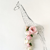Giraffe and Flower Photograph No. 88224