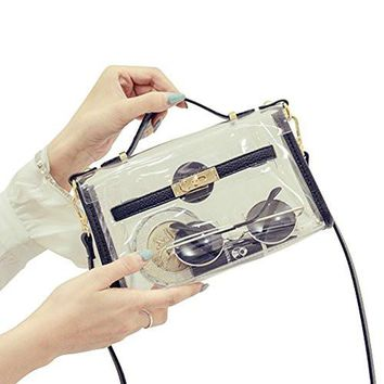 Purse for Women Clear Crossbody Messenger Shoulder Bag Adjustable Strap NFL Stadium