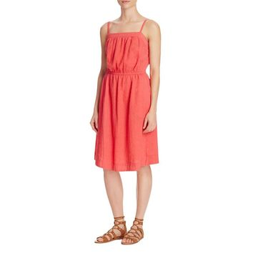 Trovata Womens Linen Blend Adjustable Straps Sundress