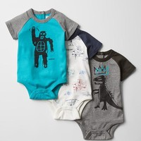 Gap Baby Junk Food Basquiat Bodysuit 3 Pack
