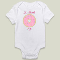 The Sweet Life Donut Onesy by pennyjanedesigns on BoomBoomPrints