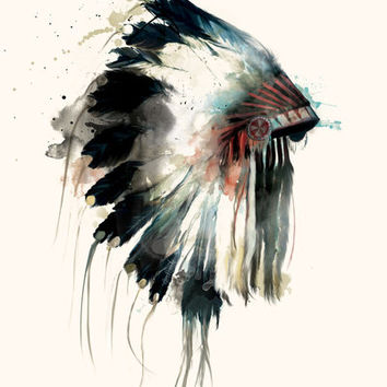 Headdress Art Print by Amy Hamilton | Society6