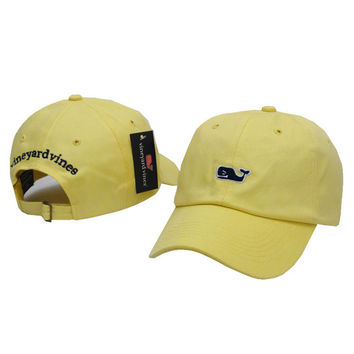 Whale Embroidered Yellow Strapback Golf Casquette Southern Tide Fish Dad Baseball Cap Men Summer Hat Baseball Women Dolphin Cap