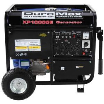 Duromax, 10,000-Watt 16 HP Gasoline Powered Electric Start Portable Generator with Wheel Kit Included, XP10000E at The Home Depot - Mobile