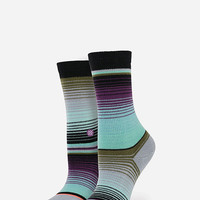 Stance Amiga Girls Athletic Crew Socks Black One Size For Women 26023810001