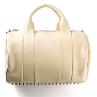 ALEXANDER WANG MERINGUE LEATHER STUDDED ROCCO HANDBAG