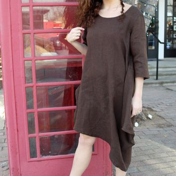 Naida Tunic - Sovana Brown by Bryn Walker