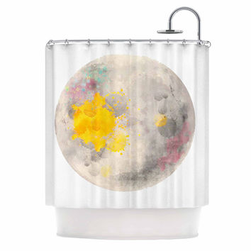 "Oriana Cordero  ""Moonlight"" Gray Yellow Shower Curtain"