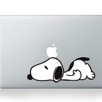 Lazy Snoopy mac decal mac book mac book pro mac book air Ipad mac sticker