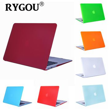 Rygou for Macbook Air 13 Matte Plastic Hard Case for Mac Book Air 13.3 inch A1369 A1466 Laptop Shell Cover Snap-on Case