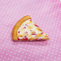 Polymer Clay Cheese Pizza Slice Magnet