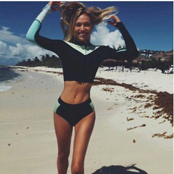2016 Mixed Colors Fashion Swimwear Tight Wetsuit Set
