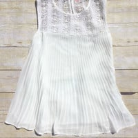 Breezy Pleated Crochet Top