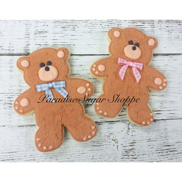 Teddy Bear Decorated Cookie