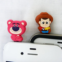 Cell Phone Anti Dust Plugs  Baby Mickey and Minnie 2 by POPStation