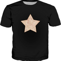 Iced coffee and white swirls doodles star Classic T-Shirt Black