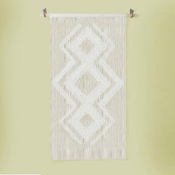 Cotton Macrame wall decor No. 6- Bohemian Macrame Wall Hanging or  Handmade Curtain