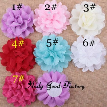 "4.5"" Mesh Artificial Chic Chiffon Baby Headband (200pcs/lot)"