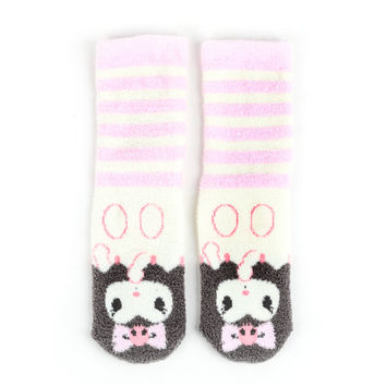 Kuromi Crew Socks Adult: Stripes