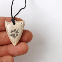 Wolf paw, Wolf necklace, Paw necklace, Wolves, Shield necklace, Shield pendant, Antler necklace, Antler jewelry, Antler pendant, Scrimshaw