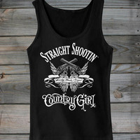 Women's Straight Shootin' Ribbed Tank Top