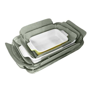 Evelots Bakeware Pan & Dish Protectors, Set Of 3