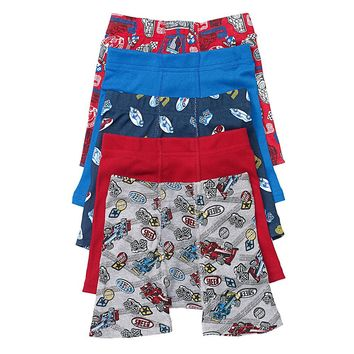 Hanes Toddler Boys' Printed Boxer Briefs with Comfort Flex Waistband 5 Pack
