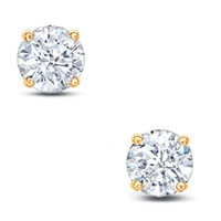 3/8 CT. T.W. Diamond Solitaire Stud Earrings in 14K Gold