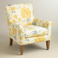 Yellow Fleurs Estelle Chair