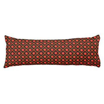 Dark geometric pattern body pillow