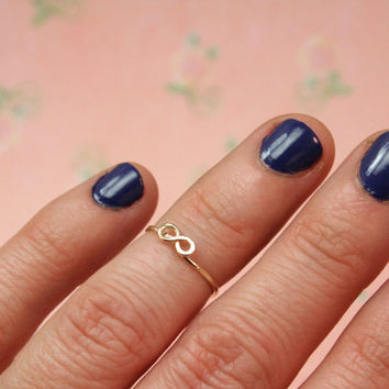 First Knuckle Ring  14k gold filled Dainty Infinity by labelledame