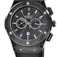 Hublot men and women trendy fashion quartz watch F black