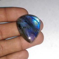 Natural labradorite Smooth Pear Cabochon 33x23x5 MM Size, Loose Gemstone Beads Multi fire labradorite gemstone