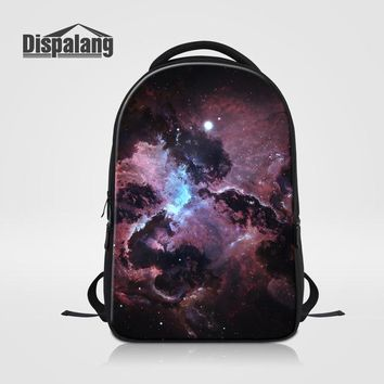 Cool Backpack school Dispalang 3D Printing Galaxy School Backpack For Teenagers Personalized Universe Space Laptop Bag Cool Mochilas Male Rugzak Pack AT_52_3