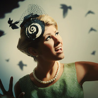 The Hitchcock - The Birds - Vertigo - Inspired - Fascinator - Bird Hat - READY TO SHIP