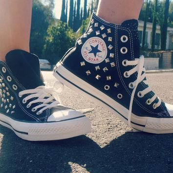 Studded Converse High Tops