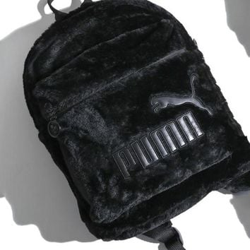 PUMA Wns Cute Fur Backpack Black