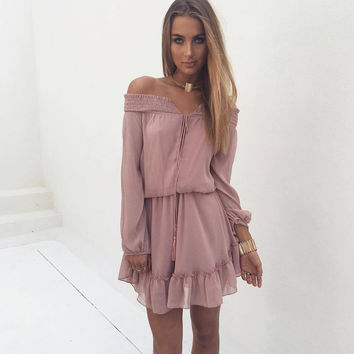 Casual Vintage Style Women Dresses Western Country High Quality Summer Short Ruffles Dress Vintage Chiffon Women Vestido C650