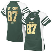 Jordy Nelson Green Bay Packers Majestic Women's Draft Him IV T-Shirt – Green