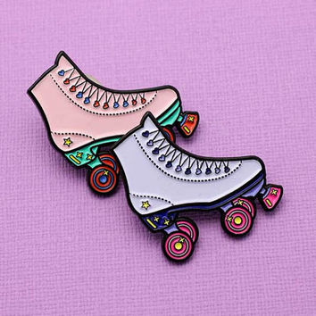 90's Roller Skate Soft Enamel Pin // Rad Collection, 90's Vibes