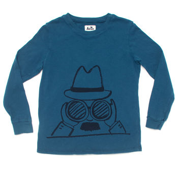 Kira Kids Teal Undercover Long Sleeve Tee
