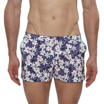 "2"" Idlewild Print Retro Swim Trunk"