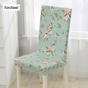 1PC Floral Print Flower Pattern Elastic Multifunctional Spandex Elastic Dining Room Chair Cover for Modern Kitchen Table Chair