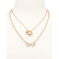 Layered Infinity Loop Necklace: Charlotte Russe
