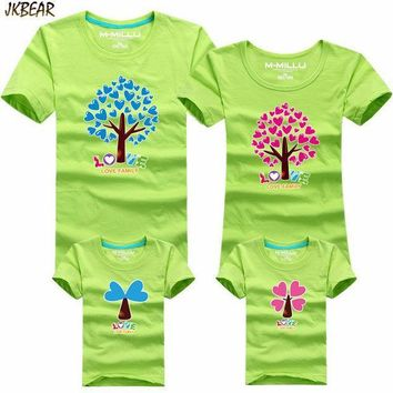 Mother's Day Gift Lovely Heart Tree Print Family Matching T Shirts Cute Father Son Mother Daugther Casual Cotton Tee S 4xl