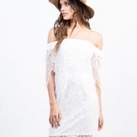 Lacey Off The Shoulder Dress