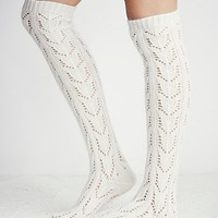 Free People Womens Wonderland Pointelle Over The Knee Sock