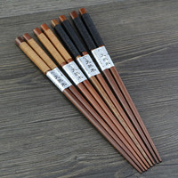 Wooden Luxury Chopsticks Long Brown